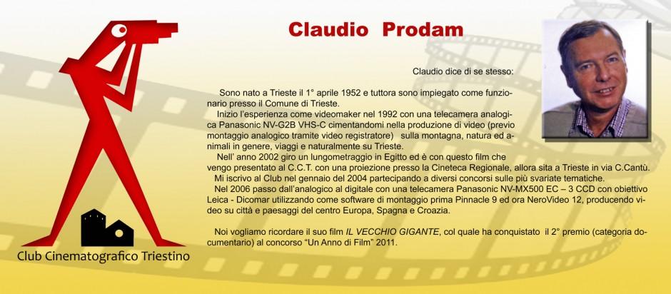 SCHEDA PRODAM CLAUDIO
