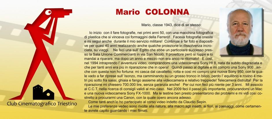 SCHEDA COLONNA MARIO